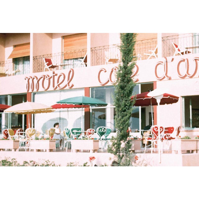 A classic pink beach motel! This photograph was taken on the French Riviera sometime in the 1950s. The Lyon + Finch Found...