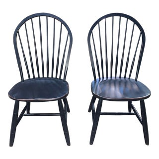 Ethan Allen New Country Hoop Back Side Chairs - a Pair For Sale
