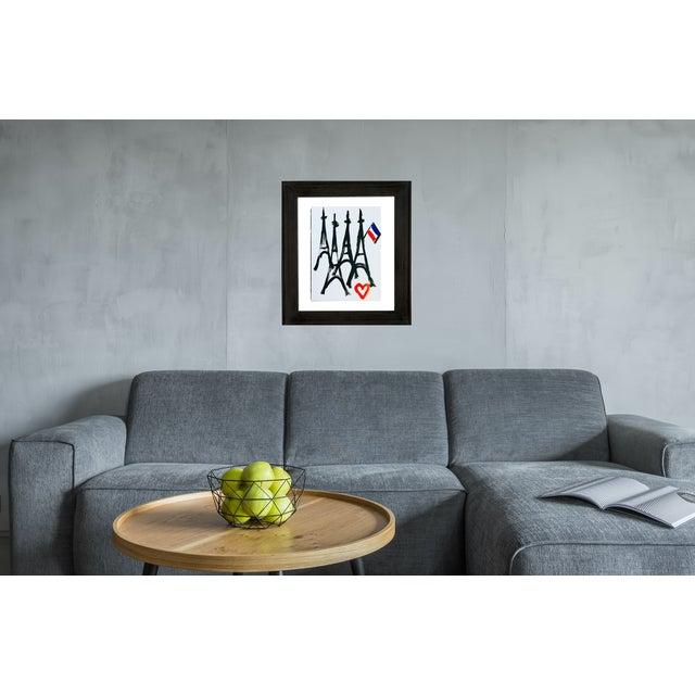 Contemporary Paris Art Paris Love Painting For Sale - Image 3 of 4