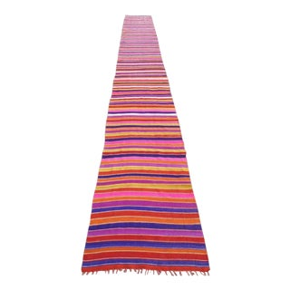 Early 20th Century Turkish Kilim Runner-2′11″ × 25′11″ For Sale