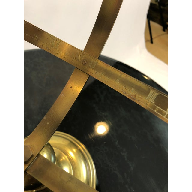 Neoclassical Brass Armillary For Sale - Image 9 of 10