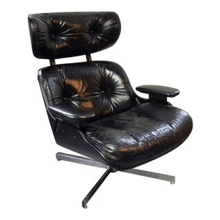 Vintage Mid Century Selig Leather Chair For Sale