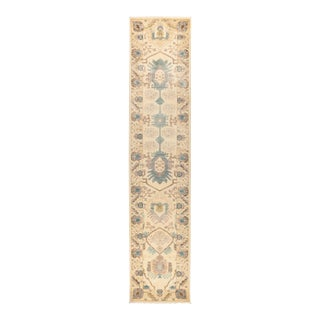"Eclectic Hand Knotted Runner Rug - 2' 7"" X 12' 2"" For Sale"
