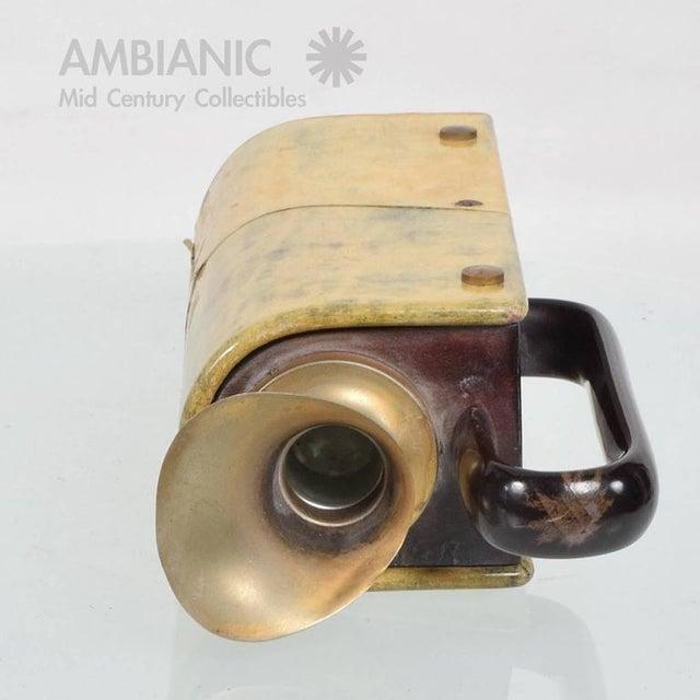 Italian Aldo Tura Wood & Brass Pitcher For Sale - Image 3 of 10