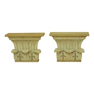Early 19th Century Vintage Carved Capitals- A Pair For Sale