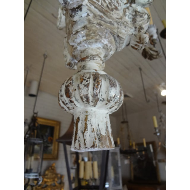 19th Century Italian Wood and Iron Chandelier For Sale - Image 10 of 11
