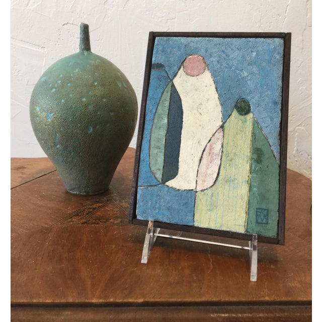 "Contemporary Enni Contemporary Mixed Media Still Life ""Combo in Blue"" For Sale - Image 3 of 9"