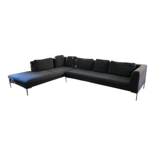 B&B Italia Gray Charles Sofa For Sale