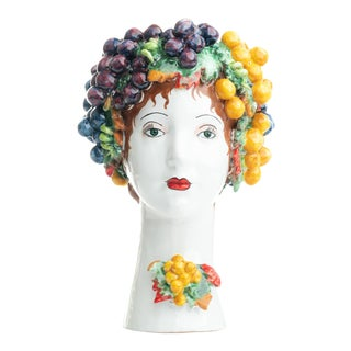 Sculpture with Grapes, Ceramiche D'arte Dolfi For Sale