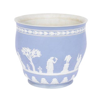 Wedgwood Light Blue Jasperware Cachepot For Sale