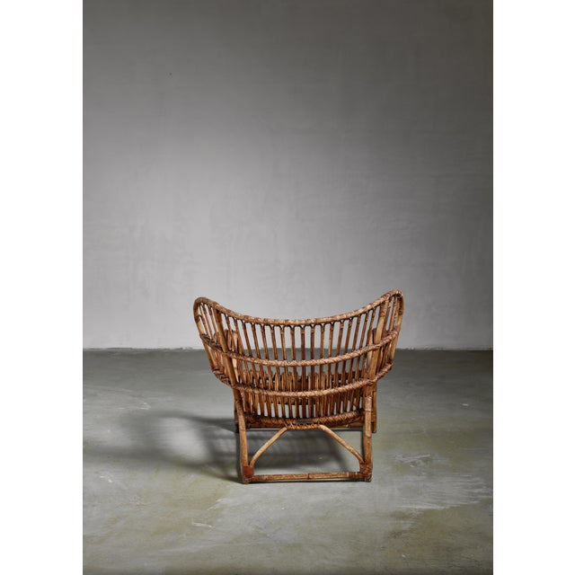 Viggo Boesen Viggo Boesen Bamboo Lounge Chair for e.v.a. Nissen, Denmark, 1930s For Sale - Image 4 of 6