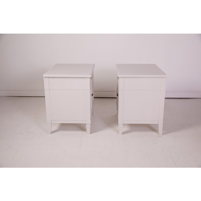 Baker Furniture Company Mid-Century Modern Baker Furniture Grey Nightstands - a Pair For Sale - Image 4 of 12