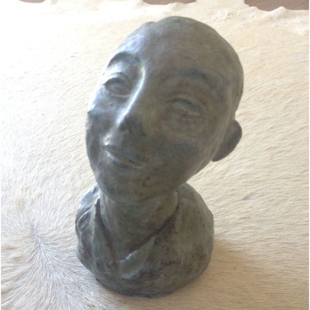 1956 Bust Sculpture of Girl - Image 3 of 8