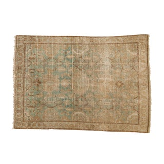 "Vintage Distressed Hamadan Rug - 4'6"" X 6'3"" For Sale"