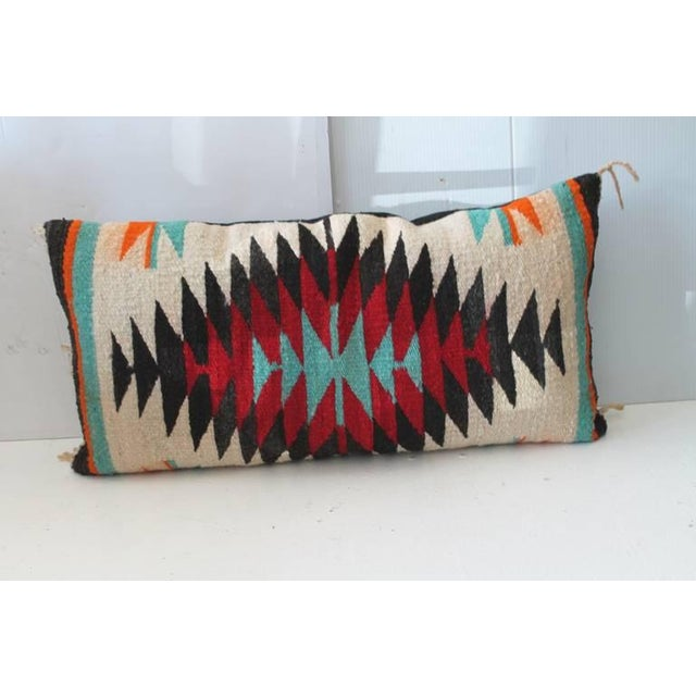 This Indian sunset looking Navajo weaving was founding a Palm Springs collection . The colors are fantastic and condition...