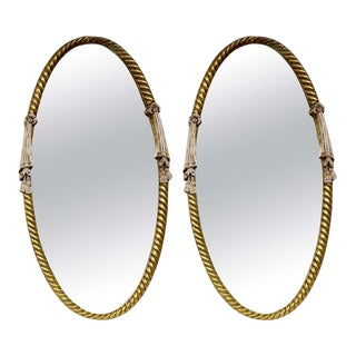 Pair of Hollywood Regency Carved Mirrors, Wall or Console For Sale