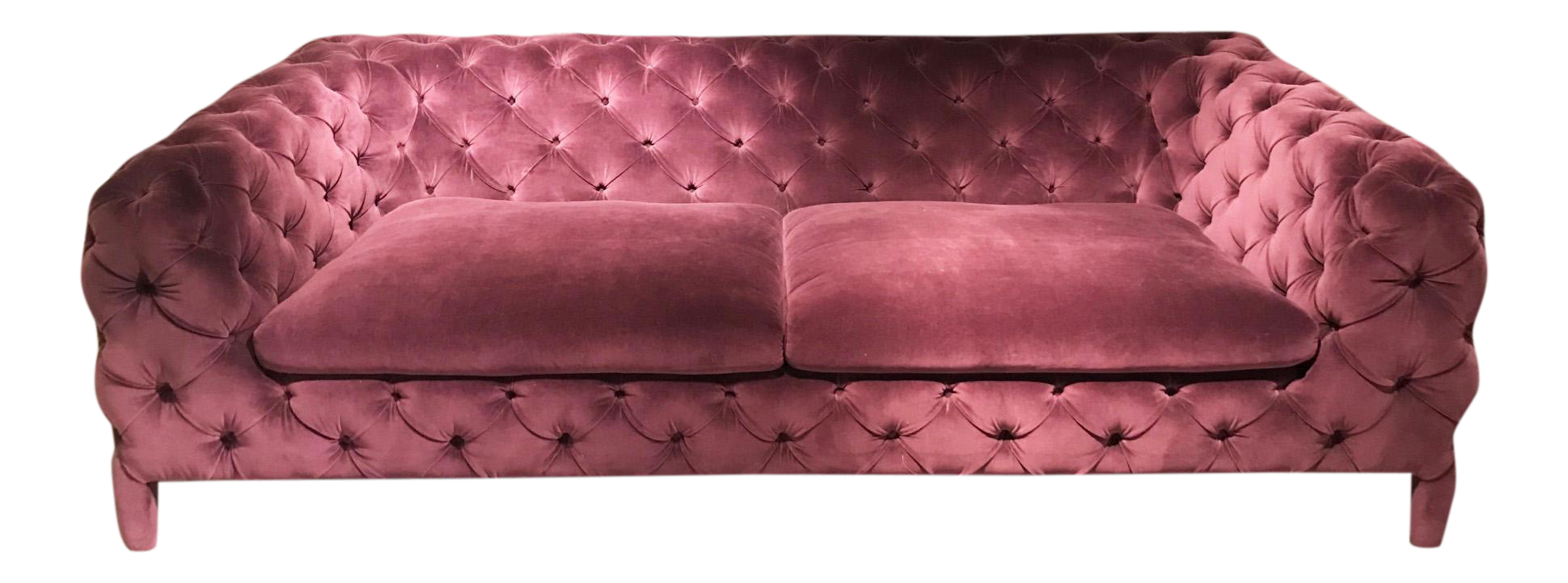 Windsor Button Tufted Purple Velvet Sofa