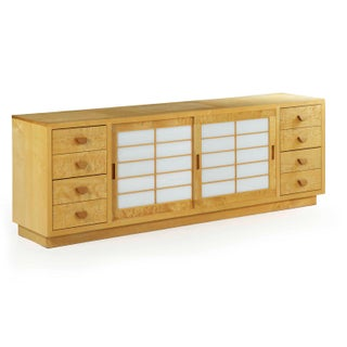 Modern Handmade Cherry and Figured Maple Credenza Chest of Drawers by Craig Yamamoto Preview