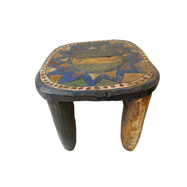 African Old Nupe Low Stool For Sale - Image 7 of 10