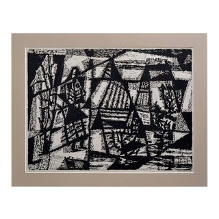 Woodblock Abstract by Antanas Tamosaitis For Sale