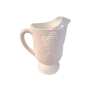 Mid-Century Large Milk Glass Pitcher For Sale