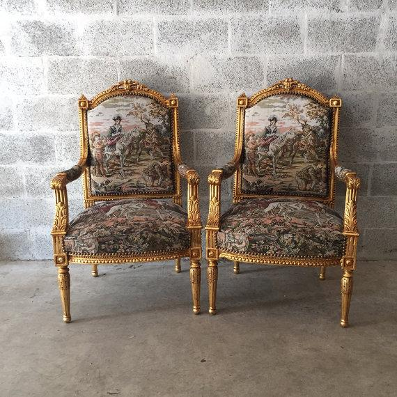 French Louis XVI Style Chairs - A Pair - Image 2 of 5