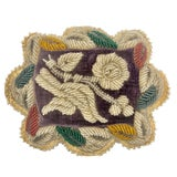 Image of 19th Century Victorian Beaded Small Accent Pillow For Sale