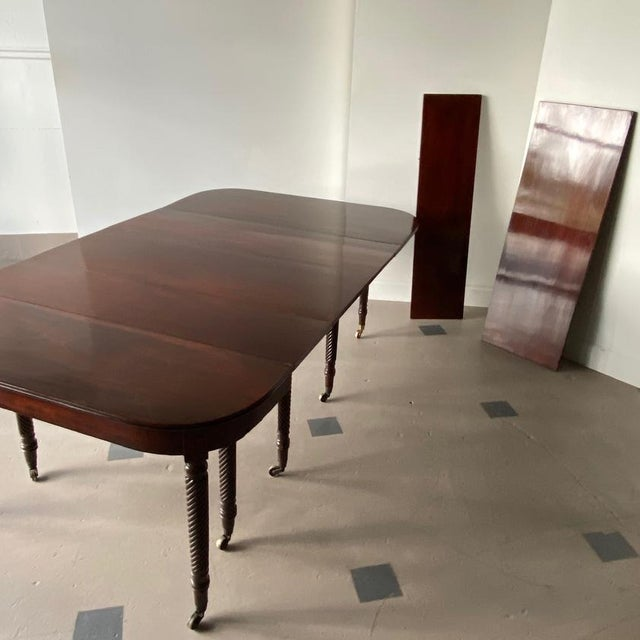 19th Century Regency Mahogany Accordion-Action Dining Table For Sale - Image 4 of 9