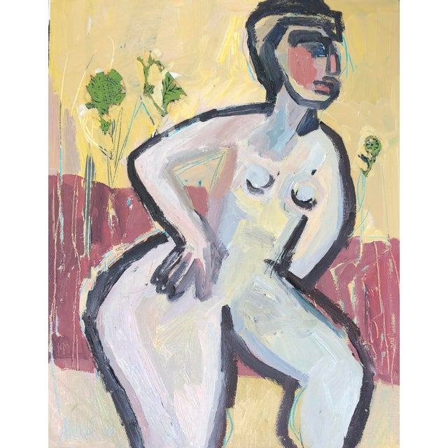 """Modern Abstract Figure """"Garden Inspired"""" by Anne Darby Parker For Sale"""