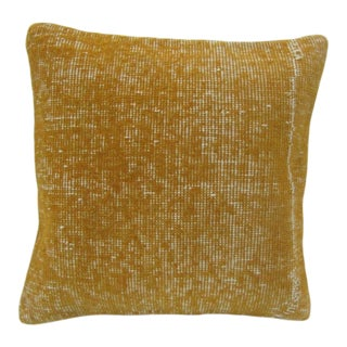 Vintage Handmade Yellow Turkish Pillow Cover For Sale