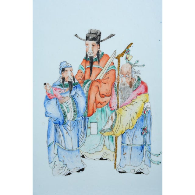 """Chinese """"Scholars"""" Antique Hand Painted Porcelain - Image 2 of 8"""