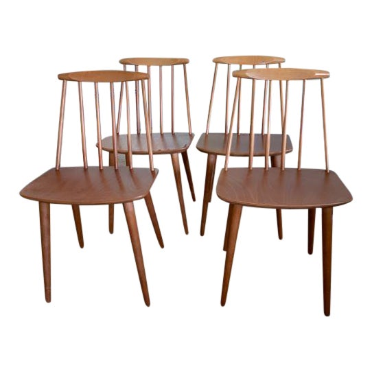 Folke Palsson for Fdb Mobler Mid Century Model J77 Chairs Circa 1970's For Sale