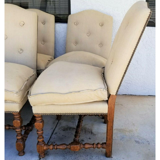 Late 20th Century Dennis & Leen Canterbury Jacobean Solid Wood Dining Chairs - Set of 12 For Sale - Image 5 of 10