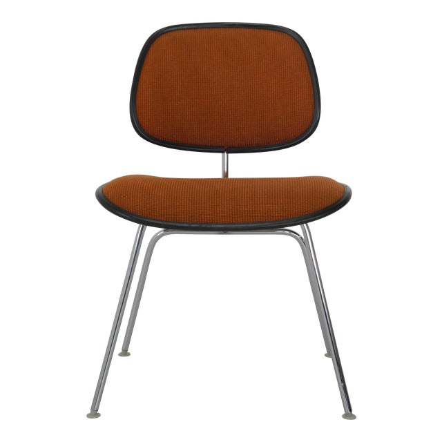 Mid-Century Modern Eames for Herman Miller Padded DCM Chair For Sale