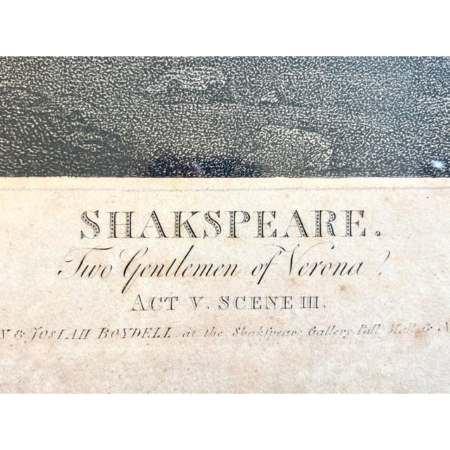 """Wood 18th Century English Engraving From Shakespeare's """"Two Gentlemen of Verona"""" For Sale - Image 7 of 13"""