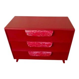 Mid Century Red Dresser