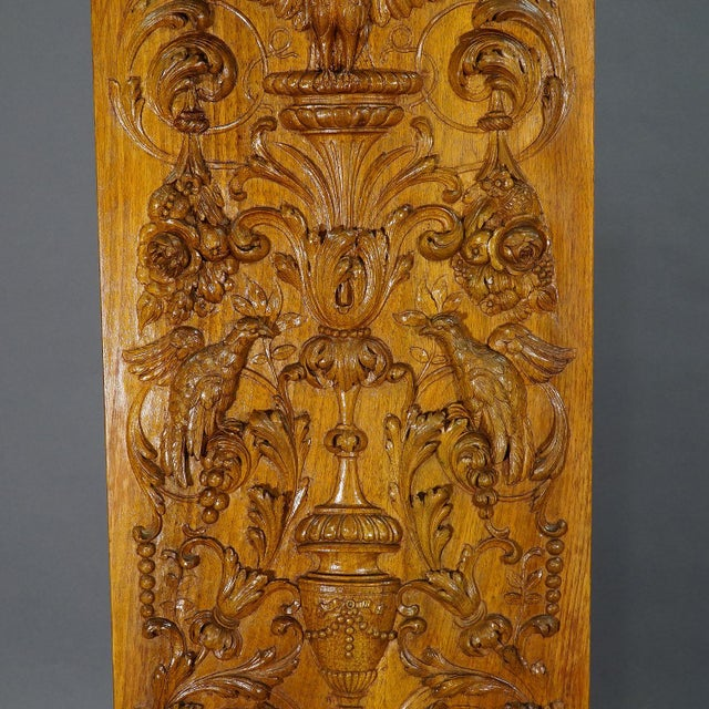 Late 19th Century Wooden Carved Panel With Eagle and Gargoiles, Germany Ca. 1920 For Sale - Image 5 of 8