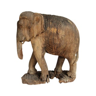 Antique Thai Wood Elephant