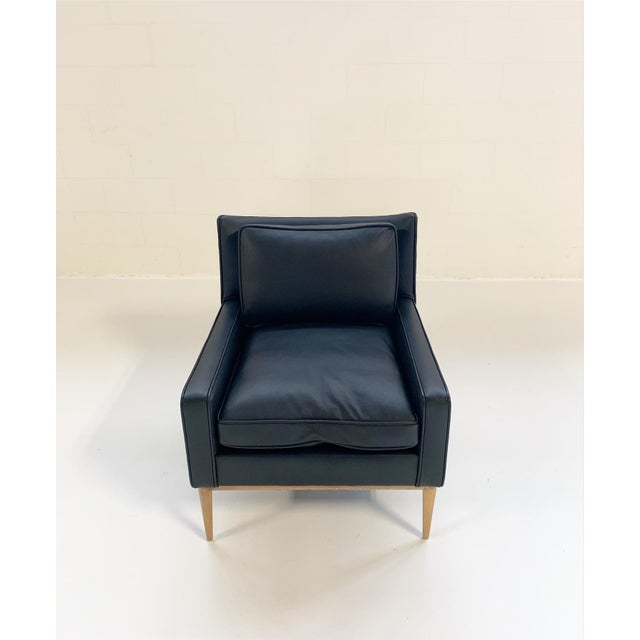 Directional Paul McCobb for Directional Model 302 Lounge Chair in Loro Piana Bufalo Leather For Sale - Image 4 of 9