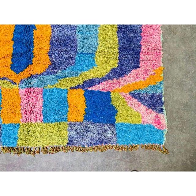 Art Deco Moroccan Boujaad Rug-6′4″ × 9′4″ For Sale - Image 3 of 9