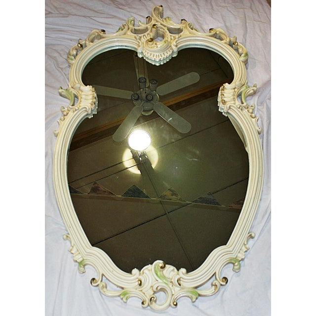 Painted Rococo Mirror For Sale In West Palm - Image 6 of 6