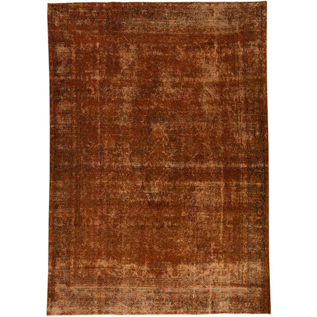 "Textile Apadana - Vintage Overdyed Rug, 9'5"" X 13'9"" For Sale - Image 7 of 7"