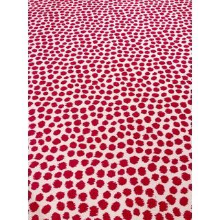 Thibaut Sunbrella Sarah Spot - Modern Peony Red & White Indoor/Outdoor Designer Upholstery Fabric - 8 Yards For Sale