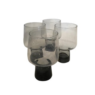 Vintage Smokey Glass Tumblers - Set of 4 For Sale