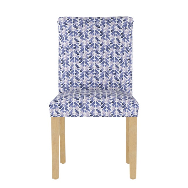 Dining Chair in Cableknit Blue Oga For Sale