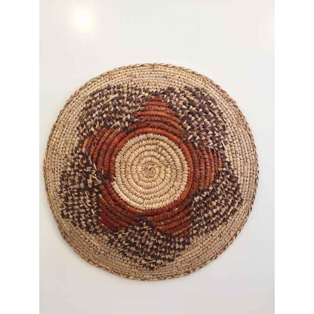 Vintage Native American Style Coil Basket - Image 8 of 8
