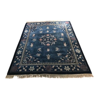 1970s Vintage Chinese Art Deco Style Rug - 8′1″ × 10′6″ For Sale