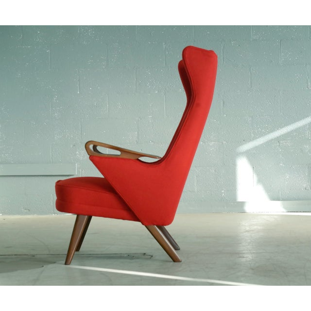 Teak Svend Skipper Attributed 1950s Papa Bear Style Lounge Chair For Sale - Image 7 of 8