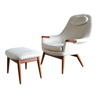 Gerhard Berg Lounge Chair and Ottoman For Sale
