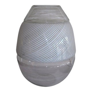Huge 1970's Italian Murano Art Glass Mazzega Carlo Nason Egg Lamp For Sale